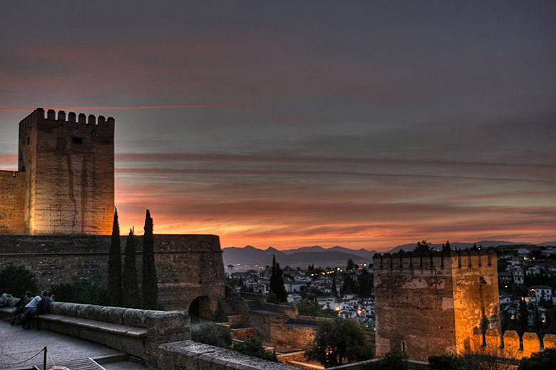 Sunset over the Alhambra Palace, Granada © Javi - Flickr Creative Commons