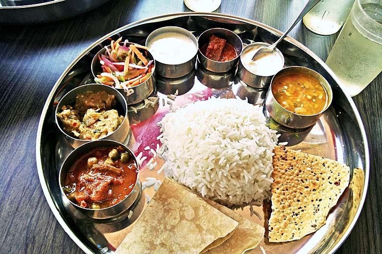 Thali combines all the flavours of Indian cuisine © Jyothis Thaliath -  Wikimedia Commons