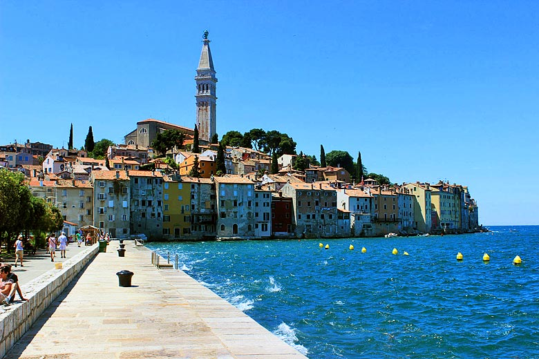 The ancient town of Rovinj, Istria © Marcel Lingg - Wikimedia Commons