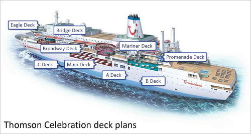 Marella Celebration deck plans and layout © TUI