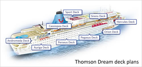 Marella Dream deck plans and layout © TUI