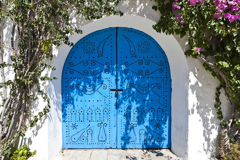 Traditional blue door in the village of Sidi Bou Said © AlexeyE30 - Fotolia.com