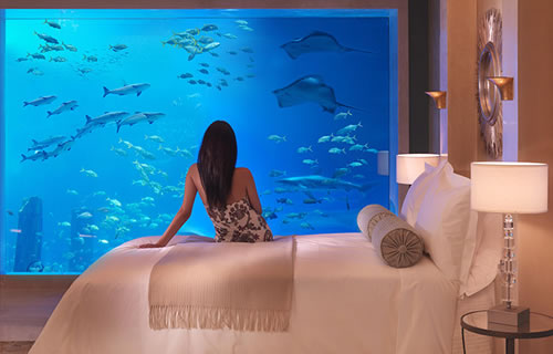 Underwater suite - Signature Suites at Atlantis The Palm Dubai © Paul Thuysbaert