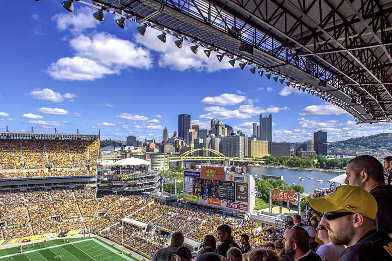 Take in the spectacular view from the height of Heinz Field - photo courtesy of Visit Pittsburgh