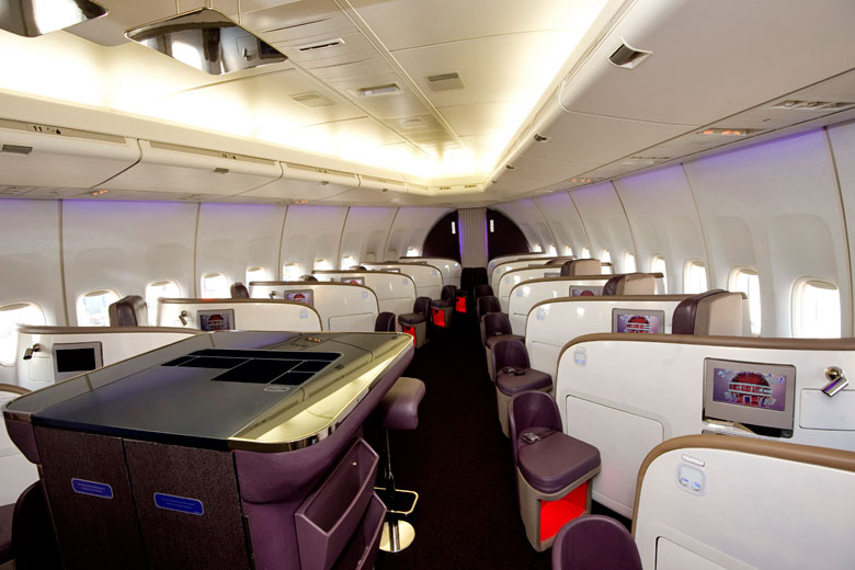 Virgin Atlantic Upper Class cabin on 747. Photo by David Dyson © Virgin Atlantic