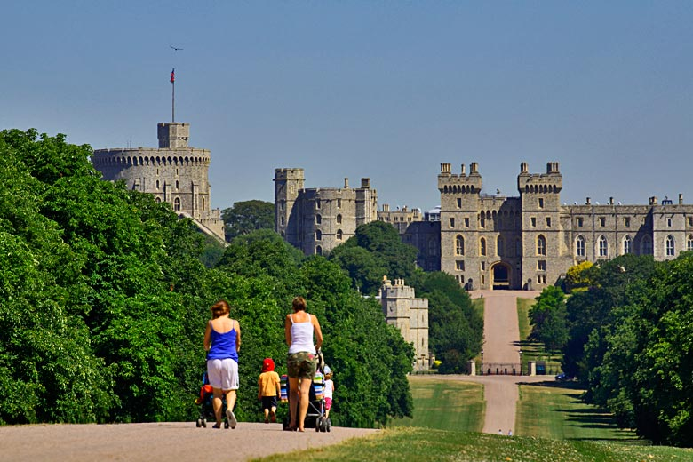 Visiting Windsor Castle just outside London - photo courtesy of VisitBritain