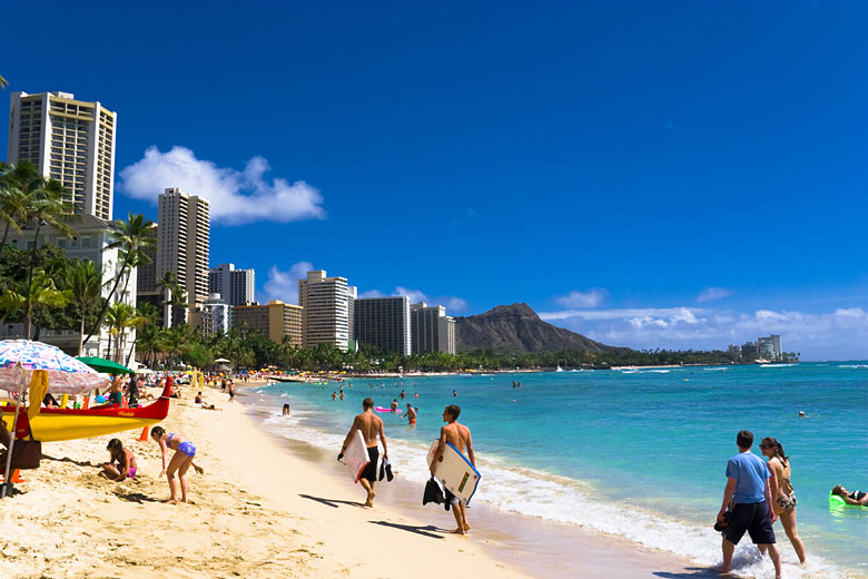 The beautiful shores of Waikiki Beach © RB Fact - Adobe Stock Image