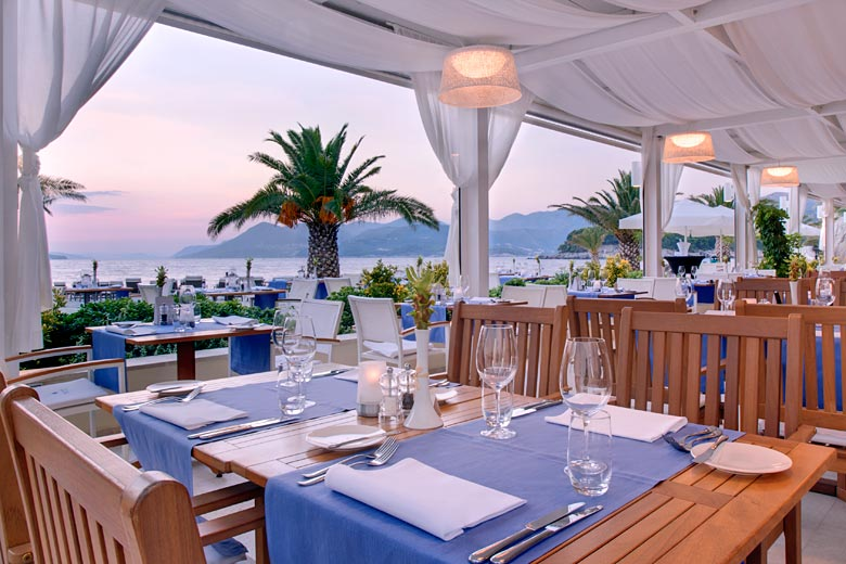Watch the sunset from the hotel's beachfront Miramare Restaurant - photo courtesy of Valamar Riviera dd