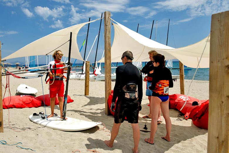 Windsurf briefing on the beach - photo courtesy of Mark Warner