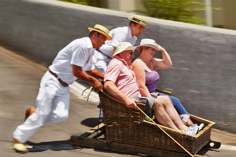 The world's most thrilling toboggan ride, Madeira © Jan Wlodarczyk - Alamy Stock Photo