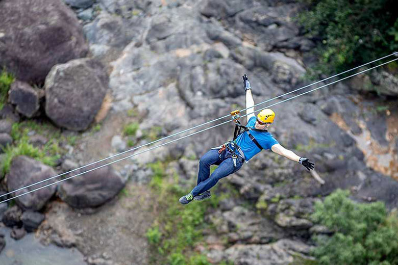 Zip lining in Toro Verde Nature Adventure Park - photo courtesy of www.toroverdepr.com