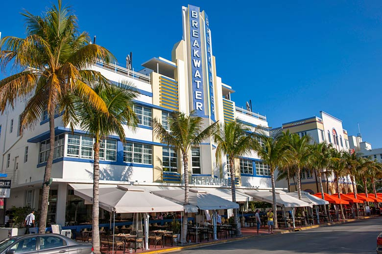 Art deco architecture on Ocean Drive, Miami Beach - photo courtesy of Greater Miami Convention & Visitors Bureau