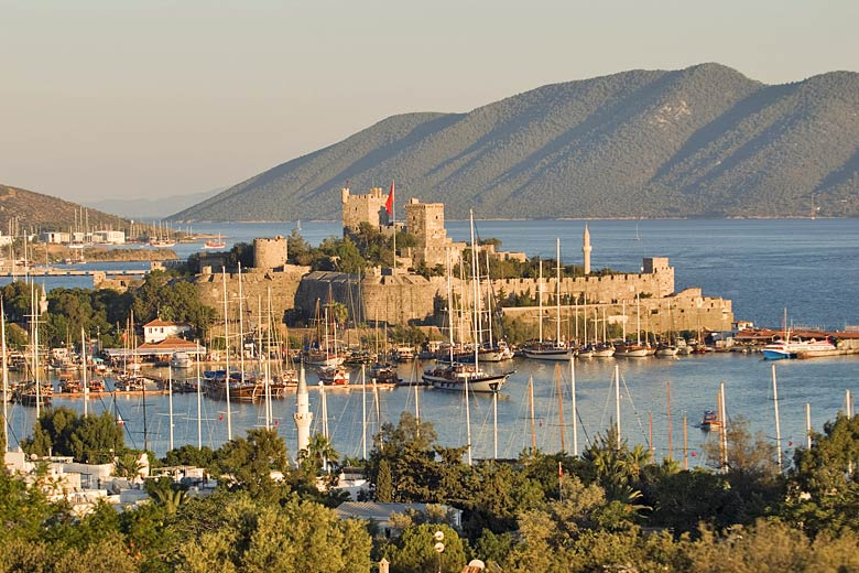 Bodrum Castle at sunset, Bodrum and Izmir Coast, Turkey © anemone