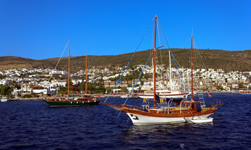 Yachts moored near Bodrum, Turkey © RVC5Pogod