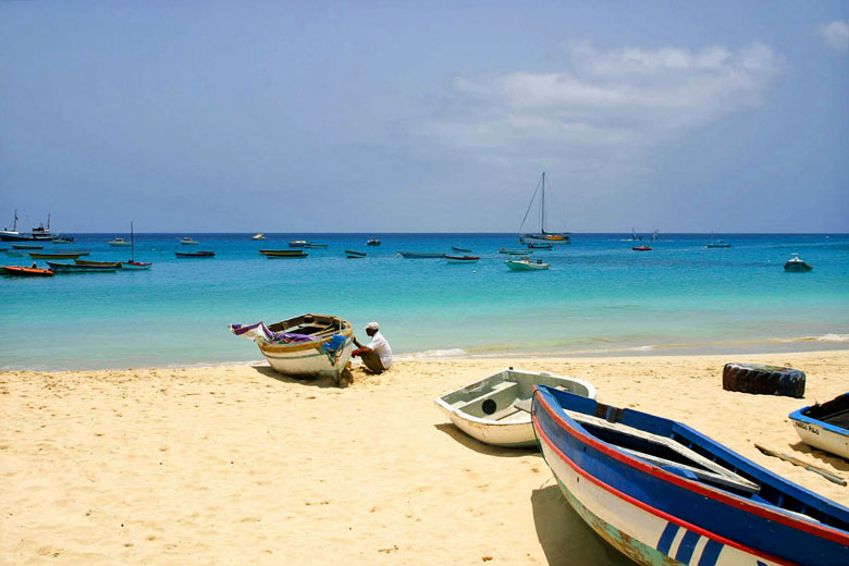Sheltered beach on Sal Island, Cape Verde - photo courtesy of Cape Verde Tourism