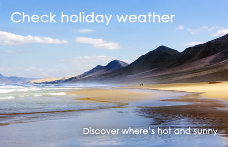 Check holiday weather? Discover where's hot and sunny around the world