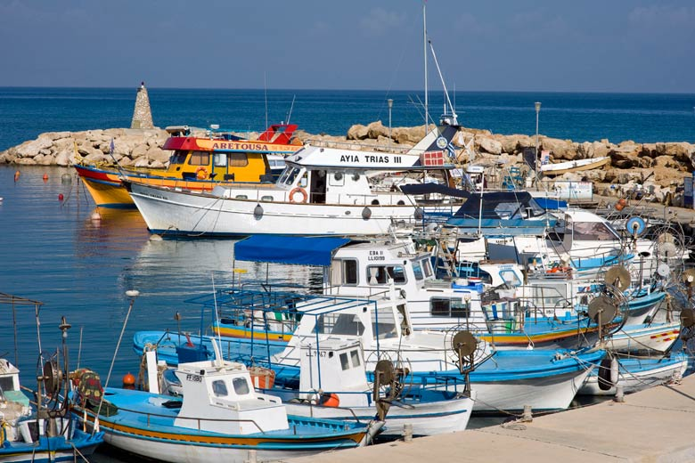 Boats in Protaras harbour - photo courtesy of Cyprus Tourism Organisation