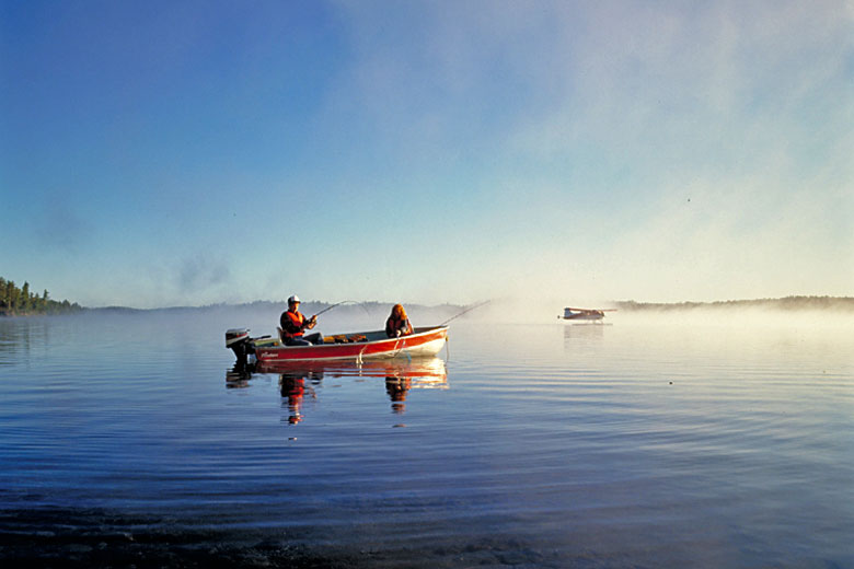 Fishing on a lake in Ontario, Canada - photo courtesy of Ontario Tourism