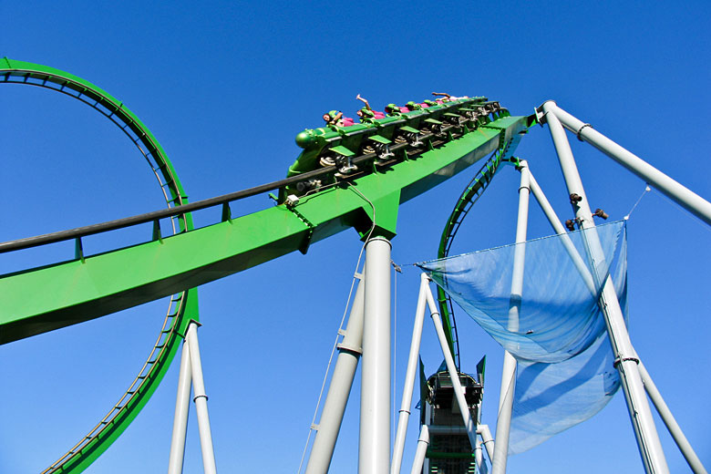 Scaling the heights of the Incredible Hulk Coaster at Universal's Islands of Adventure © Kushty - Fotolia.com