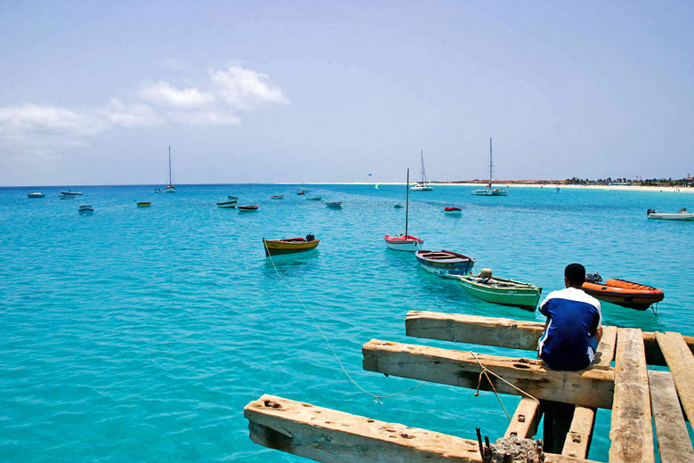 Tranquil scene, Santa Maria Bay, Sal - photo courtesy of Cape Verde Tourism