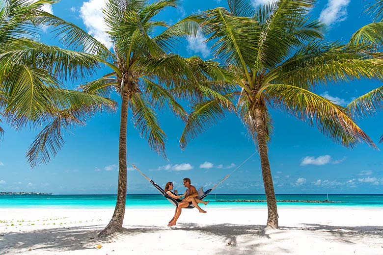 Take a break on the platinum sands at Sandals Barbados - photo courtesy of Sandals Resorts International