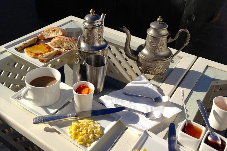 Breakfast at Riad Malaika, Essaouira © Andrew Nash - Flickr Creative Commons