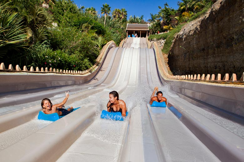 Water slide at Siam Park, Tenerife - photo courtesy of Tenerife Tourism