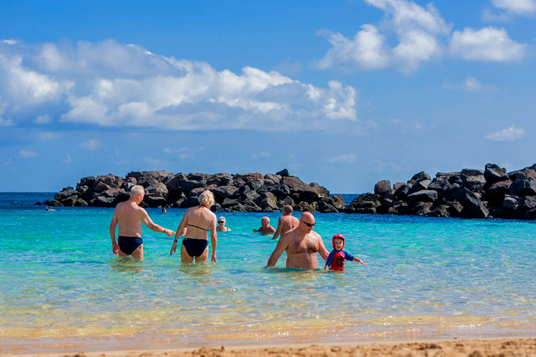 Swimming in Lanzarote in November © Antony Hollingworth - Flickr Creative Commons