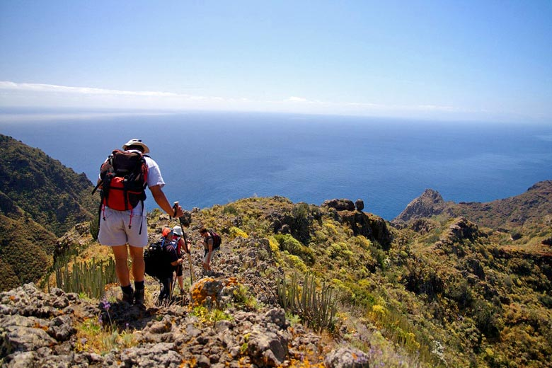 The weather in Tenerife in April is great for walking