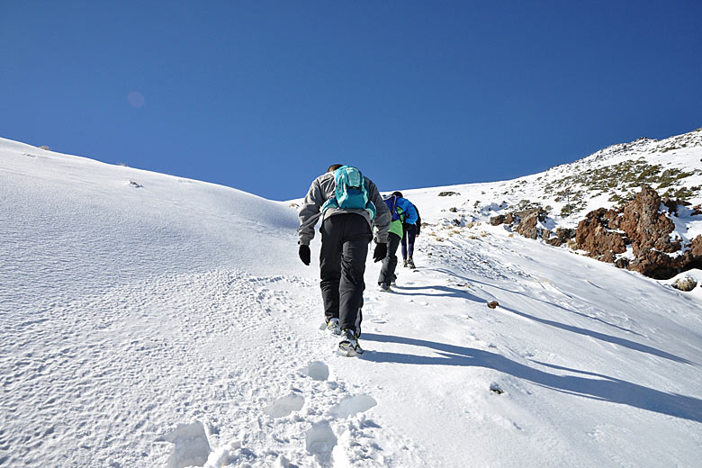 The weather in February is likely to bring snow to the summit of Mt Teide, Tenerife