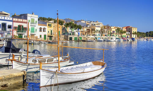 The picturesque harbour of Porto Colom, Majorca © antbphotos - Fotolia.com