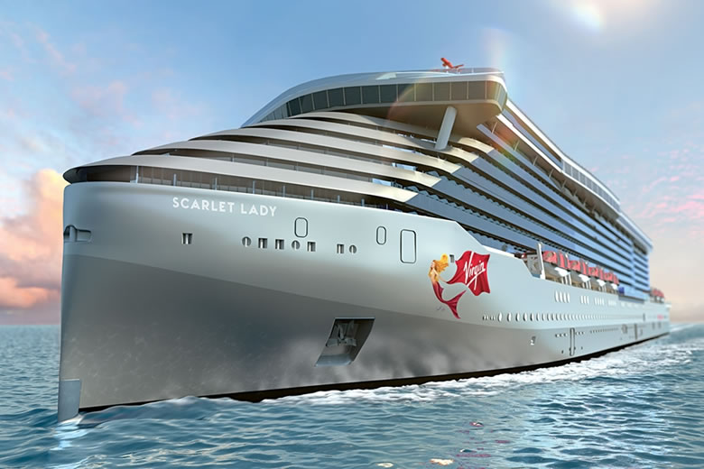 The new Virgin Voyages ship - Scarlet Lady © Virgin Holidays