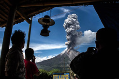 Why is Mount Sinabung erupting?